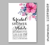 floral wedding invitation...   Shutterstock .eps vector #1135958459