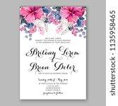 floral wedding invitation...   Shutterstock .eps vector #1135958465