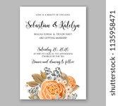floral wedding invitation...   Shutterstock .eps vector #1135958471