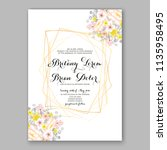 floral wedding invitation...   Shutterstock .eps vector #1135958495