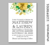 floral wedding invitation...   Shutterstock .eps vector #1135958501