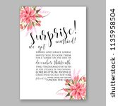 floral wedding invitation... | Shutterstock .eps vector #1135958504