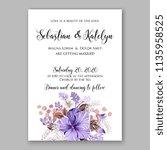 floral wedding invitation...   Shutterstock .eps vector #1135958525
