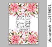 floral wedding invitation...   Shutterstock .eps vector #1135958531