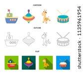 ship  yule  giraffe  drum.toys... | Shutterstock .eps vector #1135961954