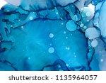 hand painted ink texture.... | Shutterstock . vector #1135964057
