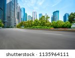 road pavement and office... | Shutterstock . vector #1135964111