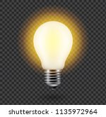 vector image of a light bulb.... | Shutterstock .eps vector #1135972964