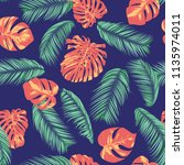 summer exotic floral tropical... | Shutterstock .eps vector #1135974011