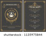 coffee shop menu. vintage style | Shutterstock .eps vector #1135975844