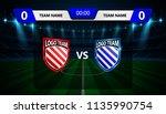 football scoreboard broadcast... | Shutterstock .eps vector #1135990754