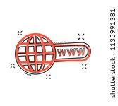 vector cartoon go to web icon... | Shutterstock .eps vector #1135991381