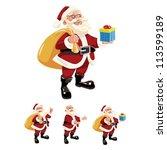 vector illustration of santa... | Shutterstock .eps vector #113599189