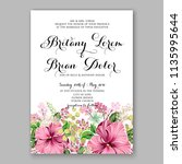 floral wedding invitation... | Shutterstock .eps vector #1135995644