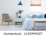 plant on cabinet between... | Shutterstock . vector #1135999337
