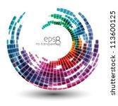 abstract swirl logo  icon ... | Shutterstock .eps vector #113600125