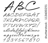 vector real hand alphabet ... | Shutterstock .eps vector #113600251