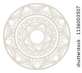 mandala. vintage decorative... | Shutterstock .eps vector #1136003507
