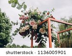 arch for wedding ceremony... | Shutterstock . vector #1136005901