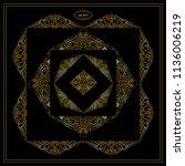 vector set of calligraphic... | Shutterstock .eps vector #1136006219