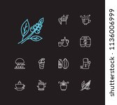 cafe icons set. coffee beans...