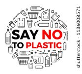 Say No To Plastice Text And...