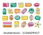 bundle of labels isolated on... | Shutterstock .eps vector #1136009417