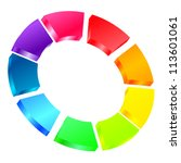 vector illustration of colorful ... | Shutterstock .eps vector #113601061