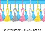 vector seamless border pattern. ... | Shutterstock .eps vector #1136012555