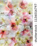 floral painting. wall art for... | Shutterstock . vector #1136016797