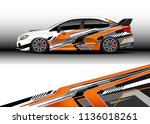 car decal graphic vector  truck ... | Shutterstock .eps vector #1136018261