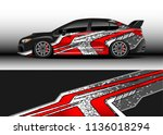 car decal graphic vector  truck ... | Shutterstock .eps vector #1136018294