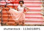 street fashion model. portrait... | Shutterstock . vector #1136018891