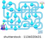 logic puzzle game with... | Shutterstock .eps vector #1136020631