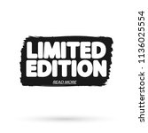 limited edition  tag design... | Shutterstock .eps vector #1136025554