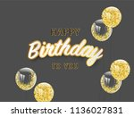 happy birthday vector... | Shutterstock .eps vector #1136027831