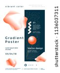 creative design poster with... | Shutterstock .eps vector #1136037311