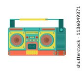 boombox retro isolated. tape... | Shutterstock .eps vector #1136049371