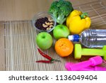 healthy eating of ketogenic... | Shutterstock . vector #1136049404