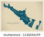 modern city map   corpus... | Shutterstock .eps vector #1136056199