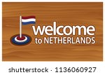 welcome to netherlands poster... | Shutterstock .eps vector #1136060927