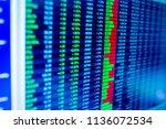stock exchange market business... | Shutterstock . vector #1136072534