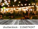 empty grey wooden floor or... | Shutterstock . vector #1136074247