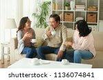 aged vietnamese people drinking ...   Shutterstock . vector #1136074841