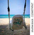 swing for baby   Shutterstock . vector #1136074967
