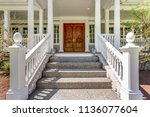 entrance to a luxury country... | Shutterstock . vector #1136077604