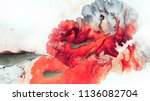 Abstract Red Background. Macro...