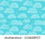 clouds seamless pattern | Shutterstock .eps vector #113608927
