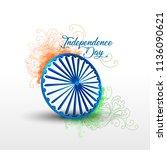 vector illustration for india... | Shutterstock .eps vector #1136090621