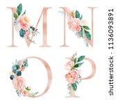Floral Alphabet Set   Letters M ...